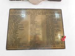 Memorials in St Illtud's Church.