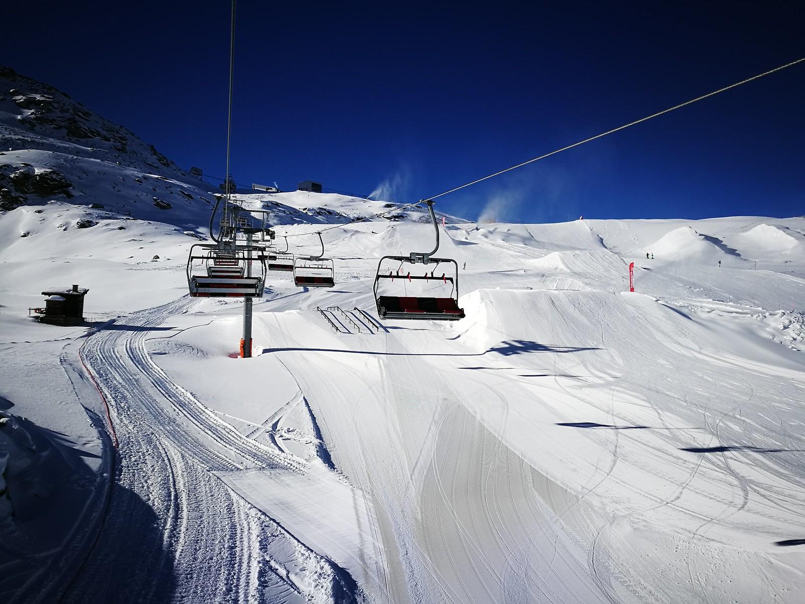 Ski park at Corvatsch