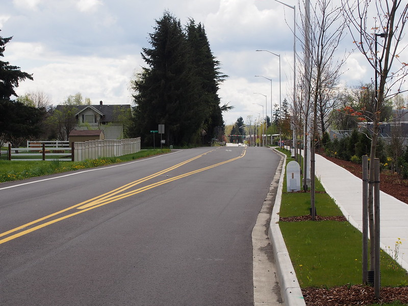 Freeman Road: Widened: The road used to be narrow and bumpy, but is now wide and smooth!