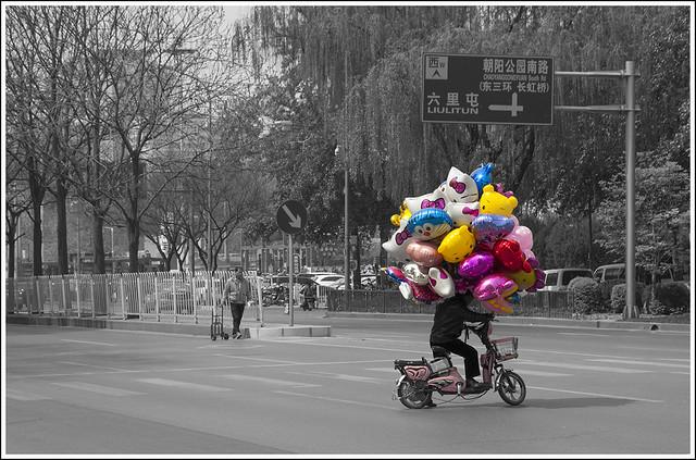 Balloon Seller, Chaoyang Park