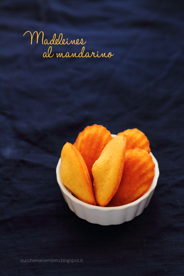 Madeleines al mandarino