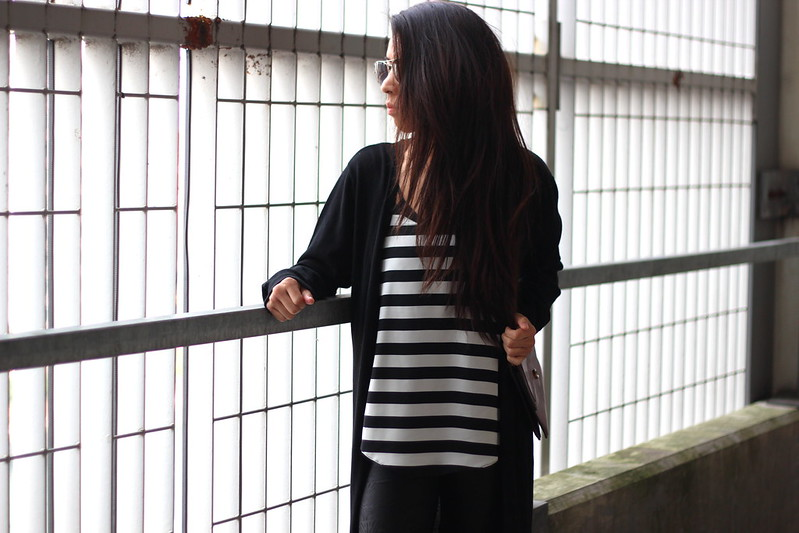 Article 21 UK Fashion & Style Blog, Primark Longline black cardigan, longline cardigan, striped vest, black work outfit, longline black outfits, uk fashion blogger, top uk blogs, best uk fashion blogs, british fashion blogs, uk chinese blogger, manchester fashion blogger
