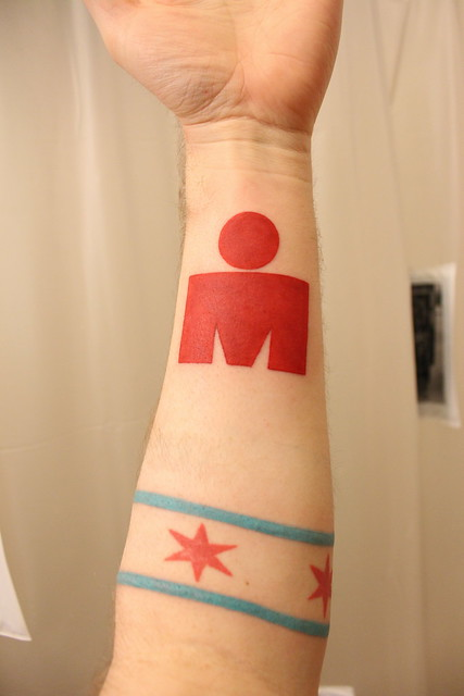 Fuzzy's Ironman Tattoo