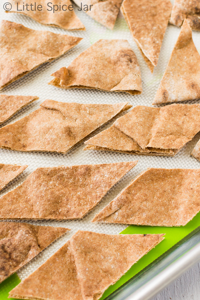Creamy Restaurant Style Hummus with Homemade Pita Chips Pita Chip