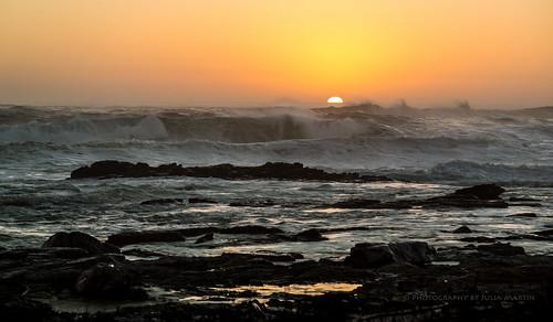 sunset seascape canon southafrica waves atlanticocean seaspray breakingwaves supershot capepeninsular photographybyjuliamartin inspireaholidayortrip
