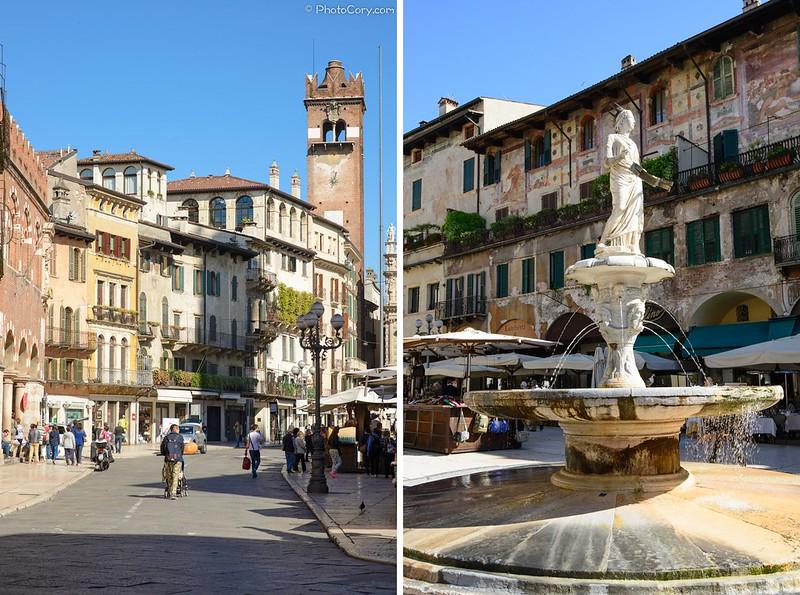 Piazza delle Erbe, Verona, Madonna Fountain