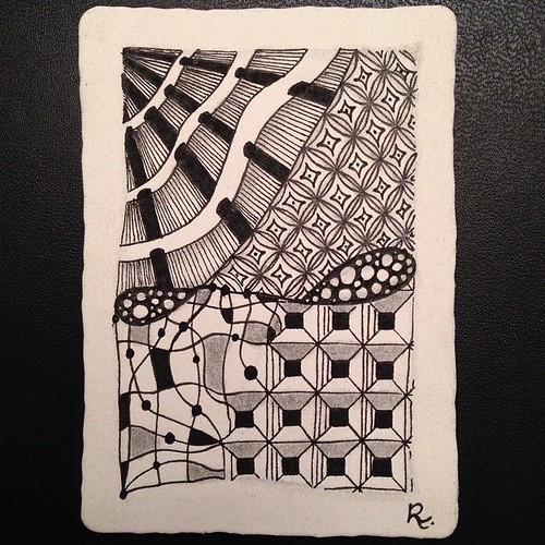Zentangle ATC 1 SOLD via http://www.gofundme.com/CZT-to-be #zentangle #tangle #atc #dex #girdy #tipple #neuron #bales