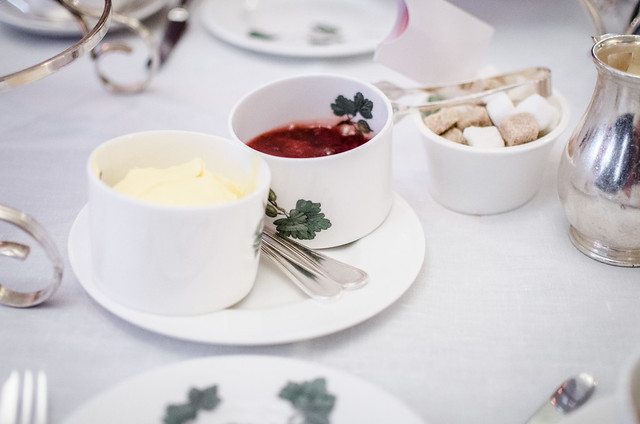 What's afternoon tea without scones paired with clotted cream and jam?