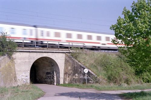 Sachsen-Anhalt, Eisenbahn zwischen Magdeburg und Halle - Railway between Magdeburg and Halle