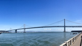 The Bay Bridge as seen from the San Francisco side.