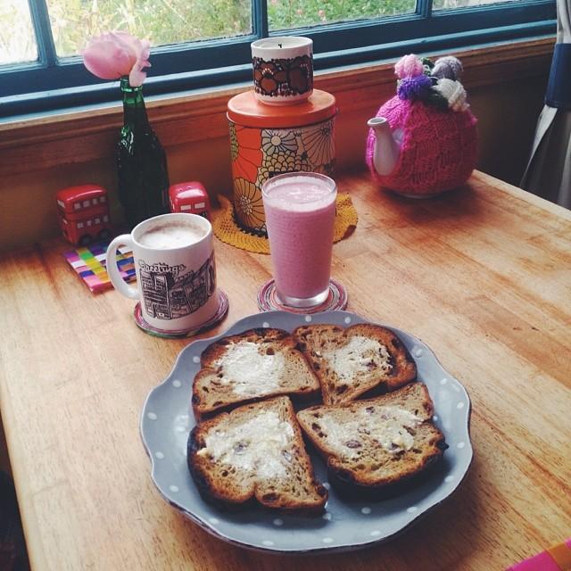 Late breakfast.