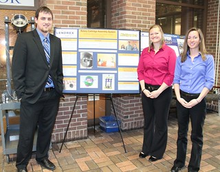 Center Beam Railcar Repurpose Design Team with poster
