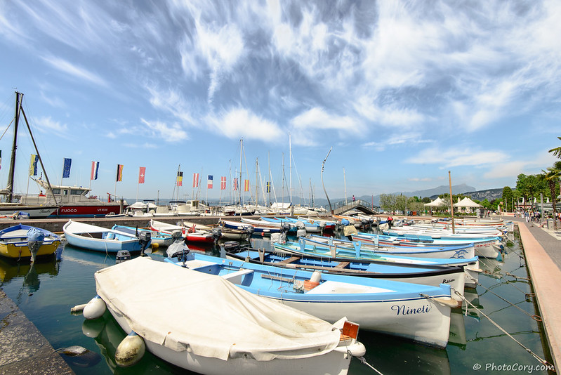 Boats in Bardolino, Lake Garda