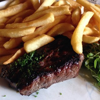 Horse steak for lunch