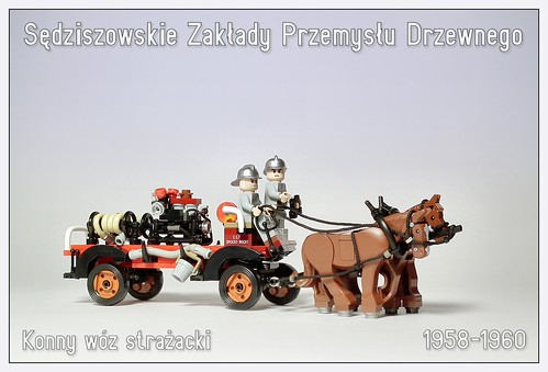 SZPD (Timber Works Sędziszów) horse fire engine, Poland, 1958-1960