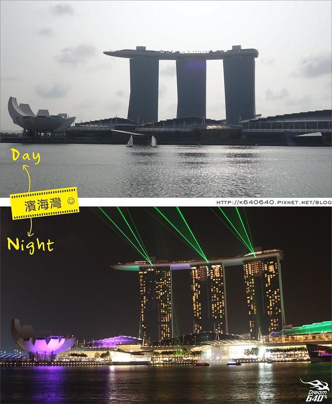 新加坡日夜對照-濱海灣