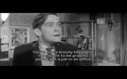Grateful for office job (Billy Liar)