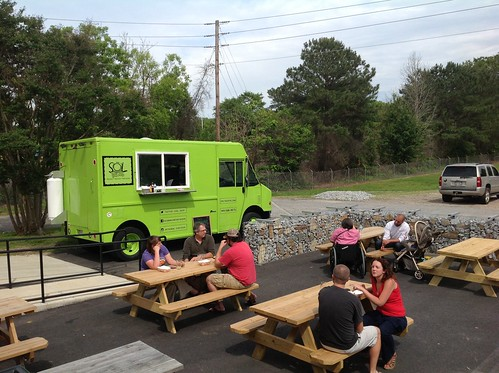 Outdoor Seating & Visit by Sol Tacos Food Truck