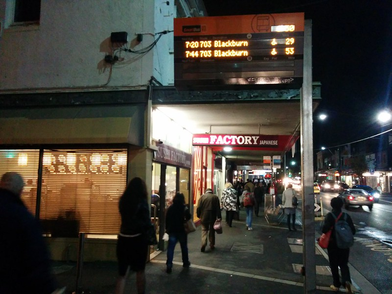 Delayed trains = long wait for bus home for some #Bentleigh #NotVerySmartbus