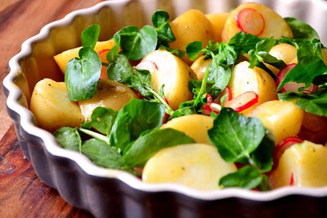 Recipe for Radish and Watercress Potato Salad
