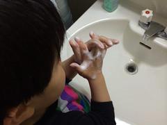 しっかり手を洗います 2014/4