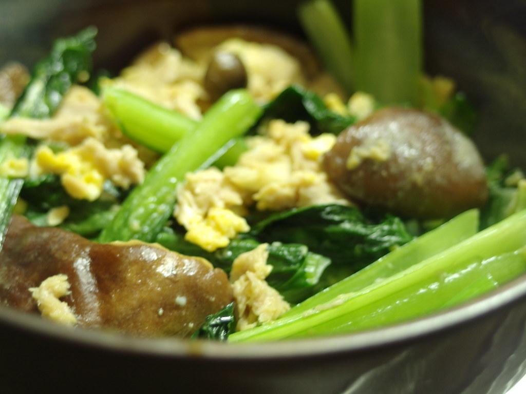 小松菜と卵の炒め