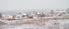 DP2M5050. East End of Village Skrepyaschevo (Скрепящево) in Snow