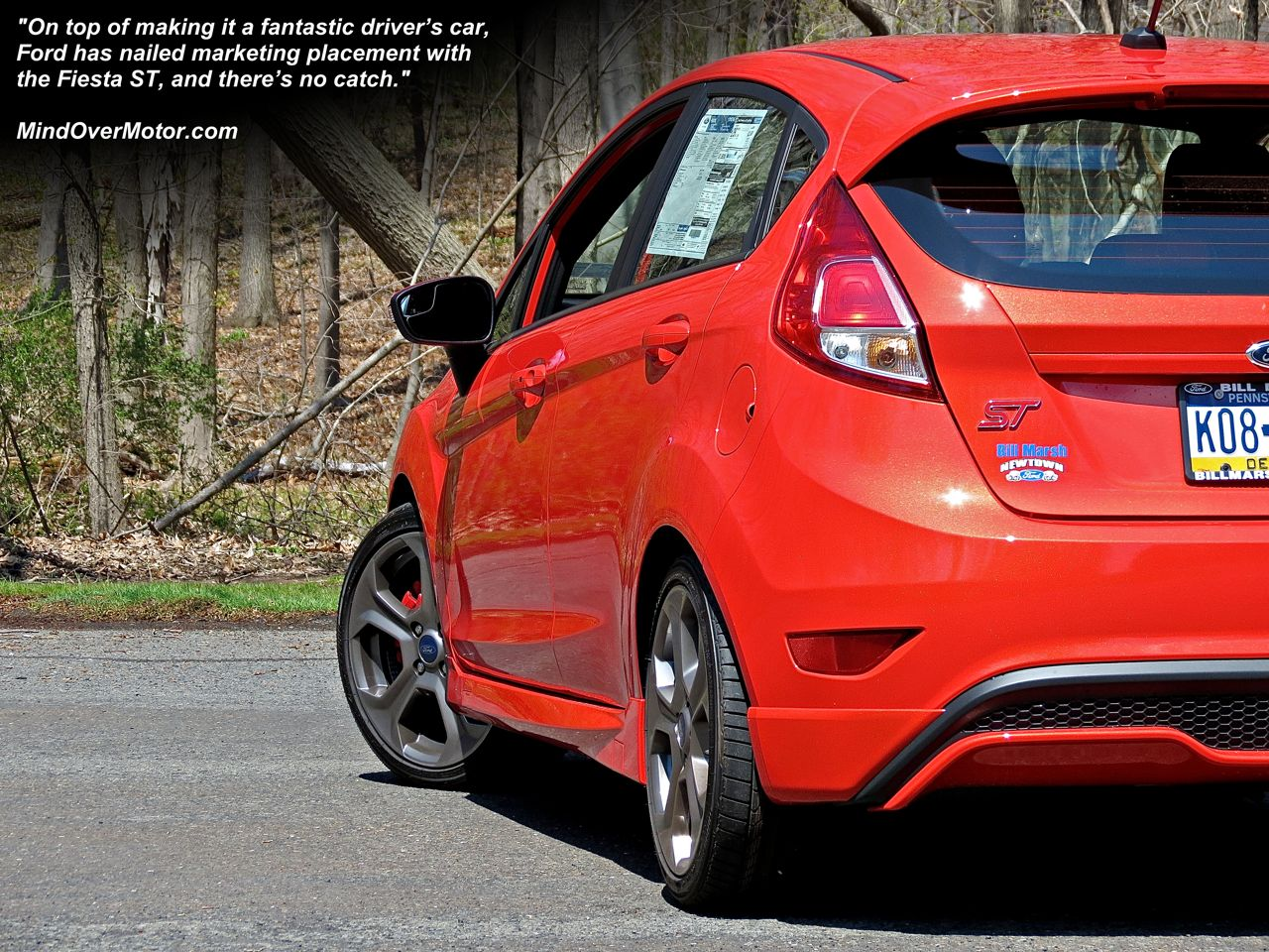 Ford Fiesta ST rear hot hatchback