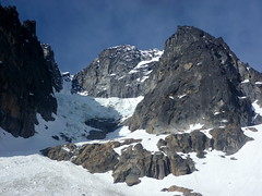 On your left, the Ice Cliff Glacier. On your right, the North Ridge