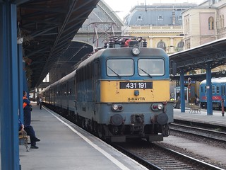 Image of Budapest Keleti Station. street city travel bridge church beer train river europe hungary market budapest tracks trainstation sleeper sleepingcar diesellocomotive