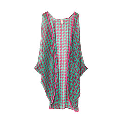 Pink Dog Tooth Sleeveless Kaftan