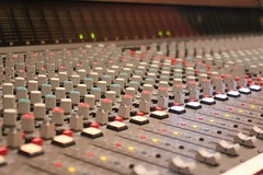 audio engineer, mixing console,