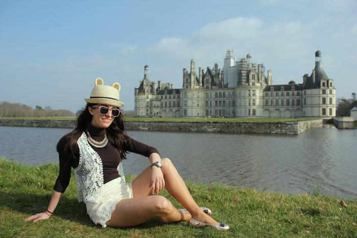 fashion, fashion blog, fashion blogger, streetstyle, Chambord, Loira, Castillos del Loira, chateaux de Loire, Loire casttle, encaje, lacy shorts