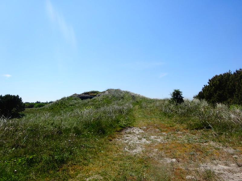 Half-concealed German bunker
