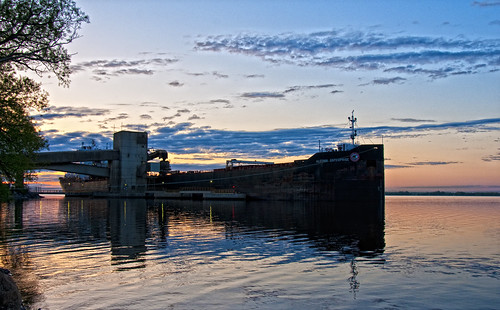 ontario sunrise dawn bath ship lakeontario laker freighter northchannel bulkcarrier