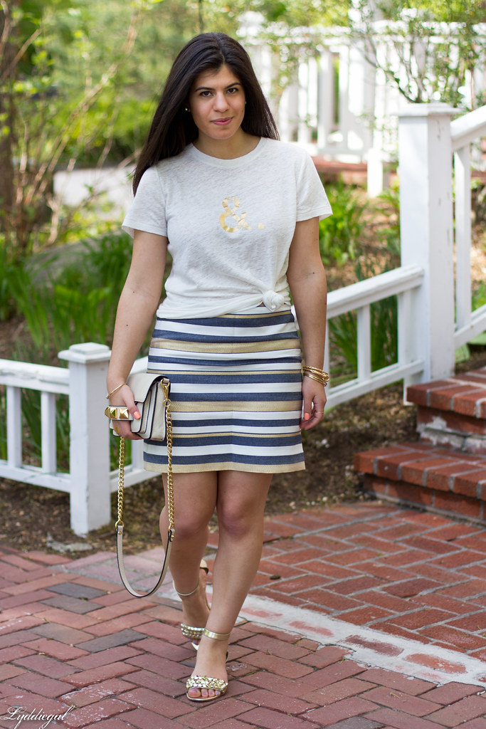 ampersand tee, striped skirt.jpg