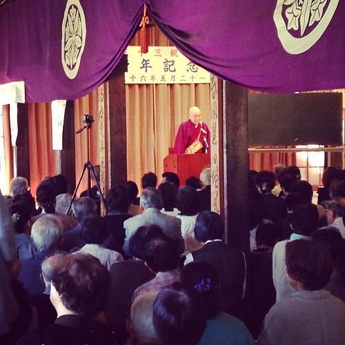 清水寺 森 貫主老師に記念講演をいただいてます。