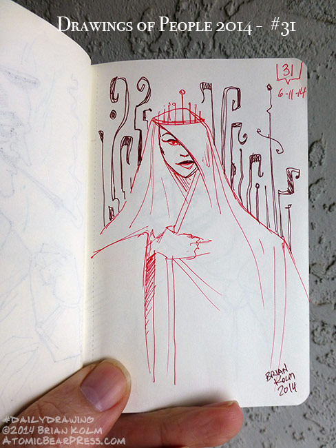06-11-2014 #dailydrawing people mystery women