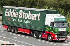 Volvo FH 6x2 Tractor with 3 Axle Curtainside Trailer - PX11 CDU - H4733 - Maggie May - Eddie Stobart - M1 J10 Luton - Steven Gray - IMG_5866