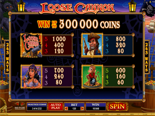 Loose Cannon Slots Payout