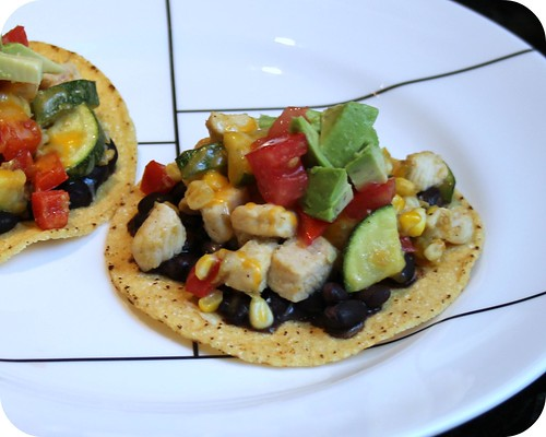 So Tasty So Yummy: Chicken and Summer Vegetable Tostadas