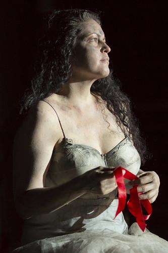Kirstin Chávez in action.