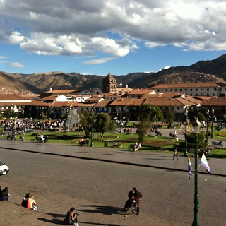 #kvpperu Lunch with a view of Plaza de Armas. Coca Sours at Limo in #Cusco