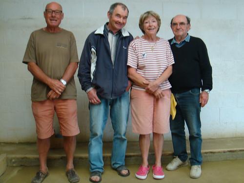 07/06/2014 - Mille Club (Morlaix) : Les finalistes du concours de boules plombées en triplettes formées