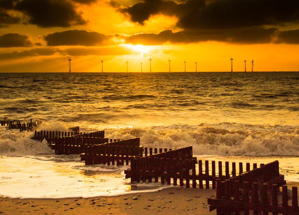 Breakers on the wind farm
