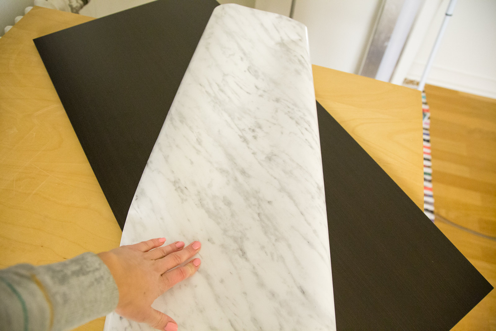 DIY - IKEA gold & marble table
