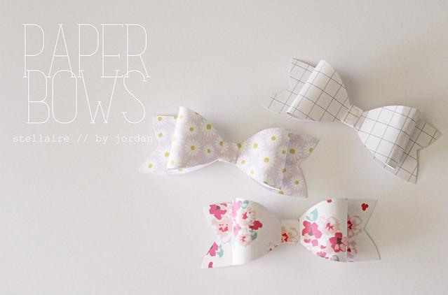 paper bows // diy