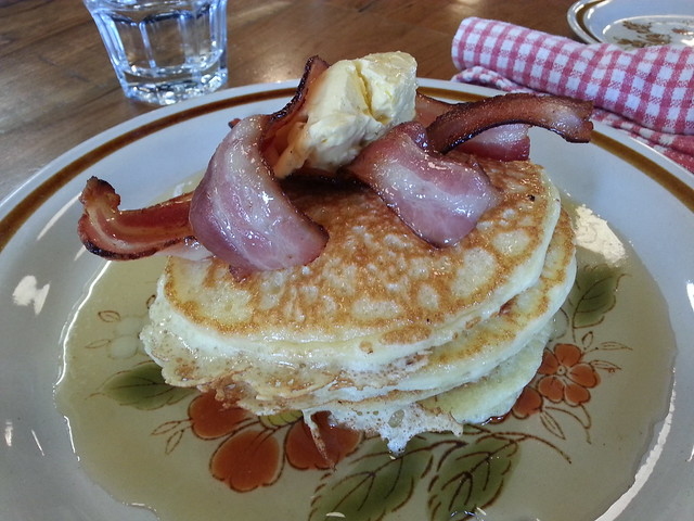 Pancakes, Bacon, Whipped butter
