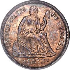 1873-CC dime obverse