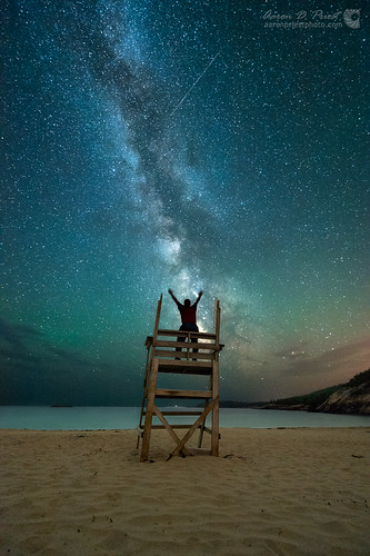 sky beach night unitedstates maine workshop astrophotography nightsky meteor barharbor milkyway selfie sandbeach acadianationalpark